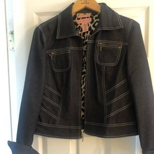 BANDOLINO black denim jacket size 8